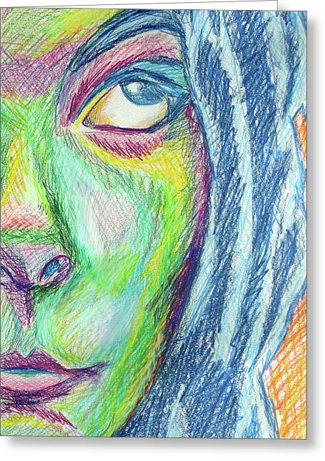Greeting Card featuring the mixed media Froud Self by Sarah Crumpler
