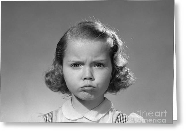 Frowning Girl, C.1950s Greeting Card by Debrocke/ClassicStock
