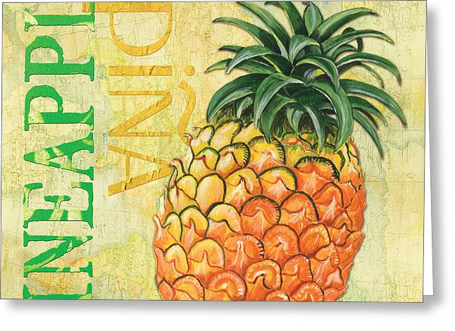 Citron Greeting Cards - Froyo Pineapple Greeting Card by Debbie DeWitt