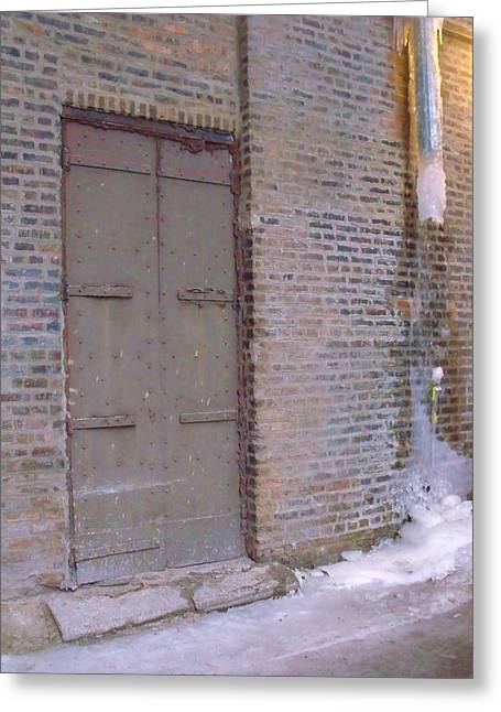 Frozen Alley II Greeting Card