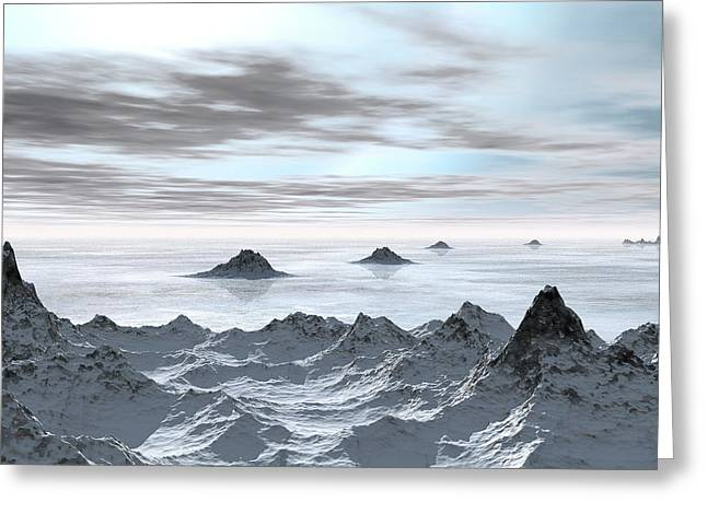 Frozen Arctic Sea Greeting Card