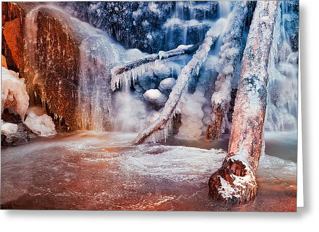 Frozen Avalon Fantasy Falls Greeting Card