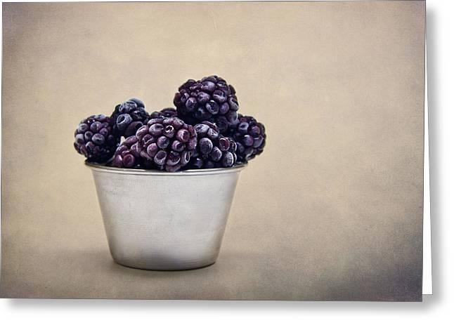 Frozen Berries Greeting Card by Maggie Terlecki