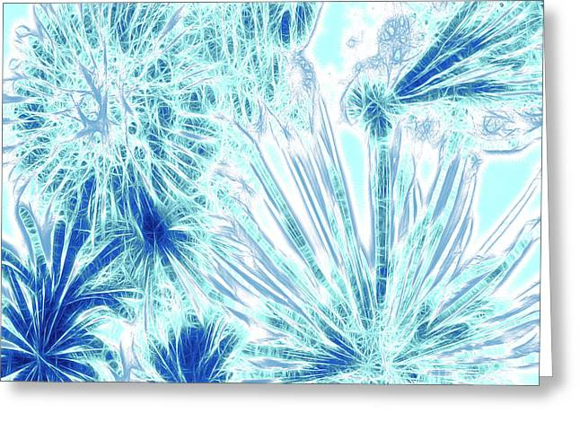 Frozen Blue Ice Greeting Card