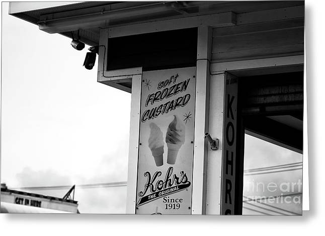 Frozen Custard Infrared Greeting Card by John Rizzuto