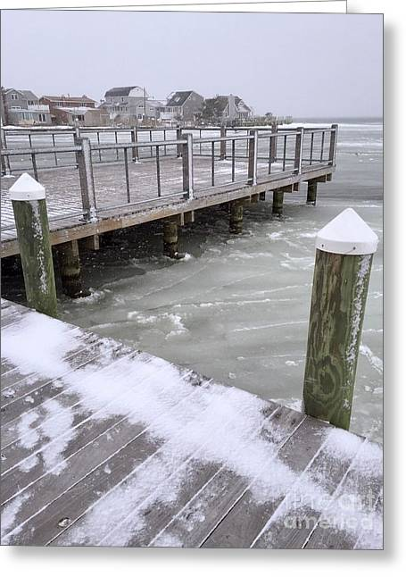 Frozen Dock Greeting Card by CAC Graphics