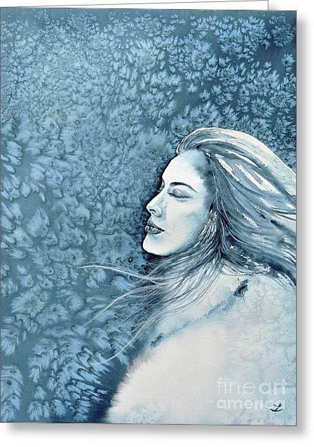 Frozen Dreams Greeting Card by Zaira Dzhaubaeva