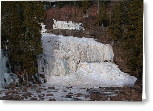 Greeting Card featuring the photograph Frozen Falls by Ron Read