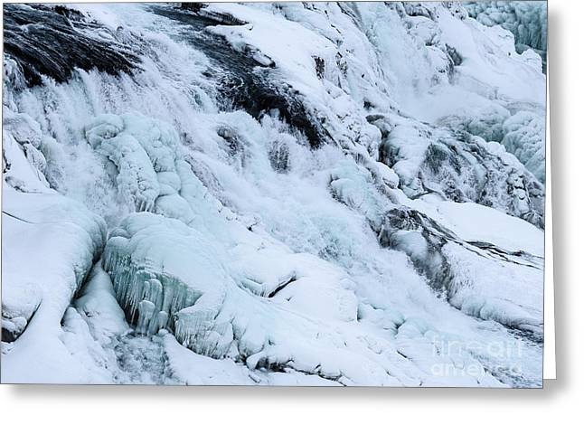 Frozen Gullfoss In Winter Greeting Card