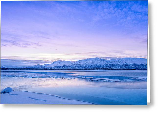 Frozen Kingdom Greeting Card by Tor-Ivar Naess