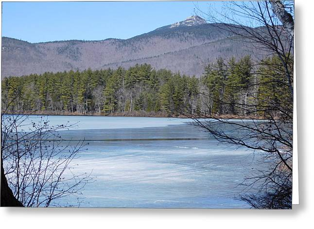 Frozen Lake Chocorua Greeting Card by Catherine Gagne