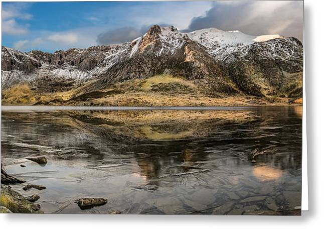 Frozen Lake Idwal Greeting Card by Adrian Evans