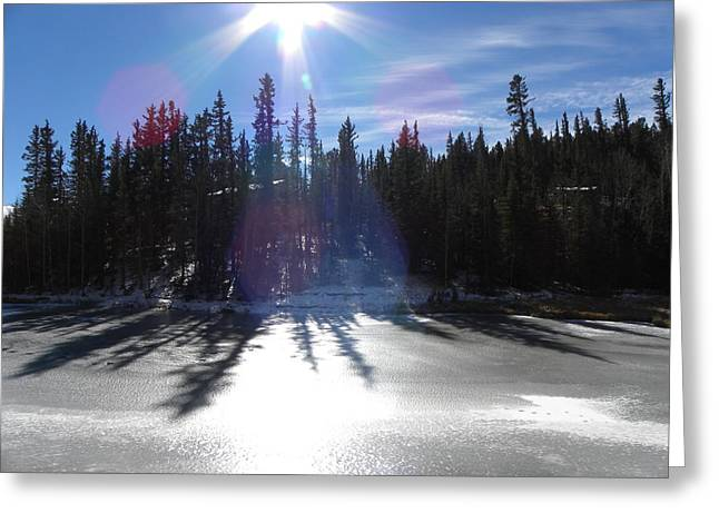 Sun Reflecting Kiddie Pond Divide Co Greeting Card