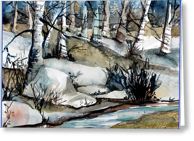Frozen Land Greeting Card by Mindy Newman