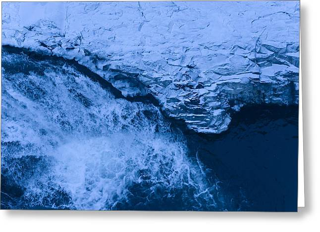 Frozen Rapids  Greeting Card