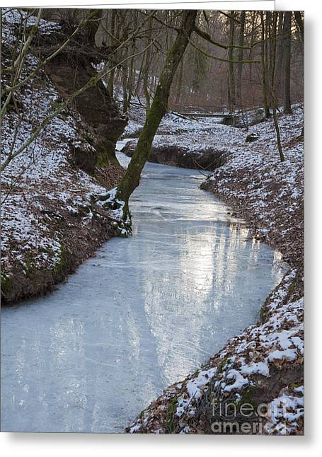 Frozen River, Germany Greeting Card by Bernd Rohrschneider
