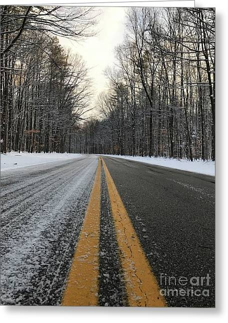 Frozen Road In Life Greeting Card by Michael Krek