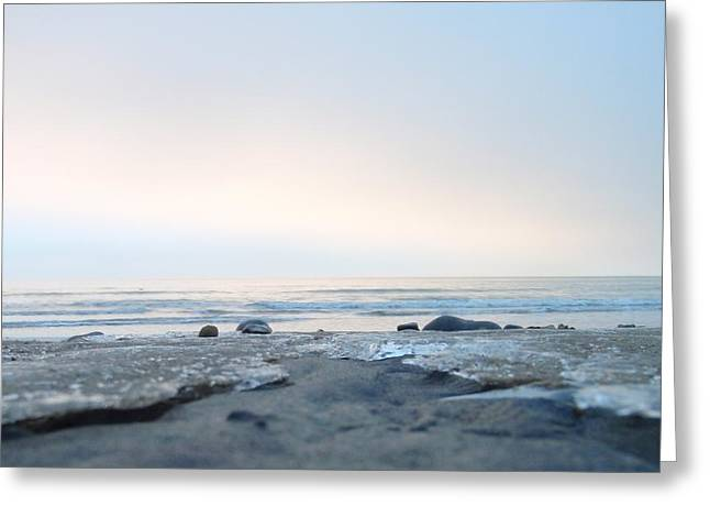 Frozen Sands Greeting Card by Mira Cooke