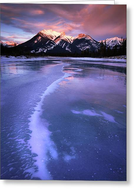 Frozen Sunrise Greeting Card
