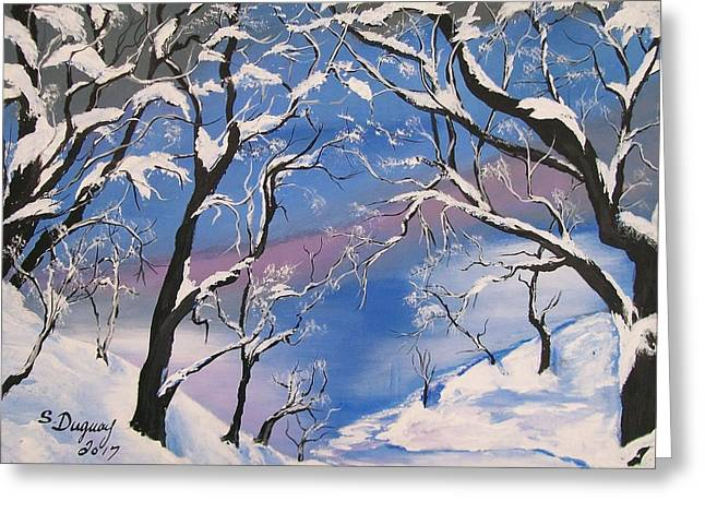 Frozen Tranquility  Greeting Card