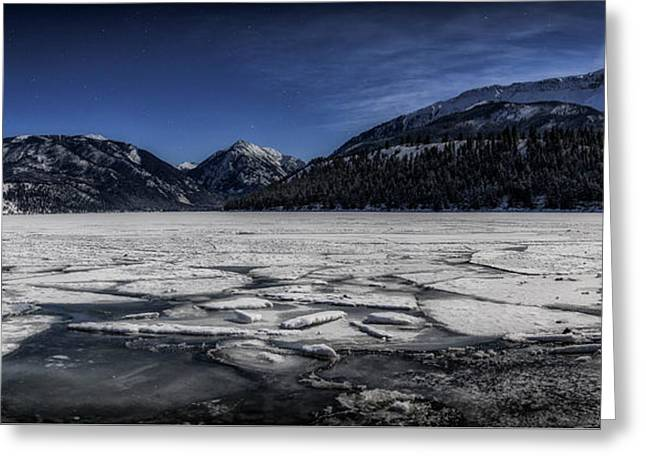 Frozen Wallowa Lake Greeting Card by Cat Connor