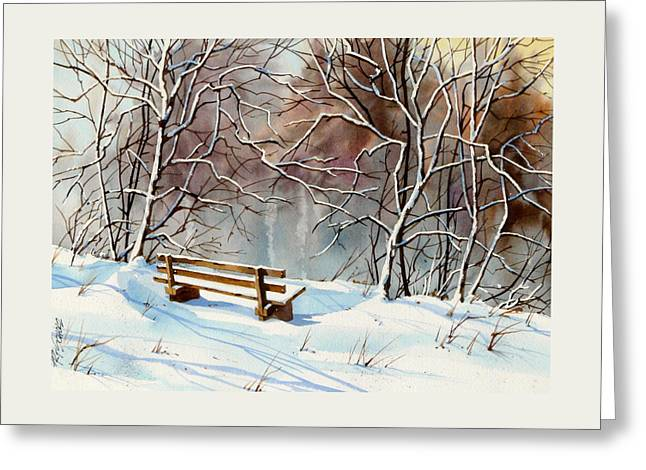 Frozen  View Greeting Card by Art Scholz
