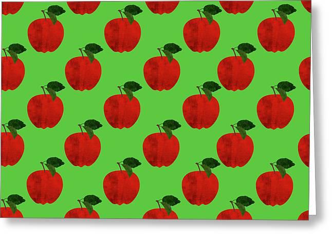 Fruit 02_apple_pattern Greeting Card