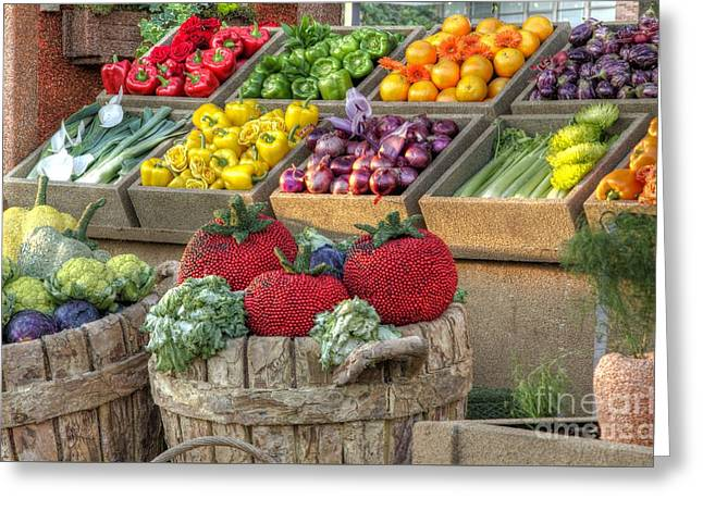 Fruit And Veggie Display Greeting Card