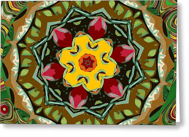 Greeting Card featuring the digital art Fruit And Veggies by Shelley Bain