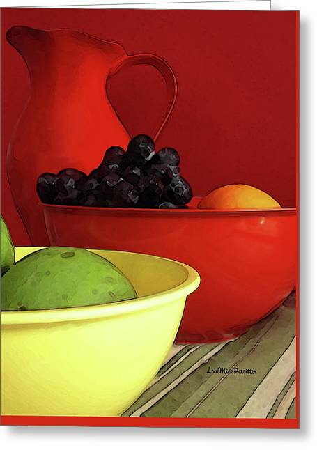 Fruit Art  Greeting Card