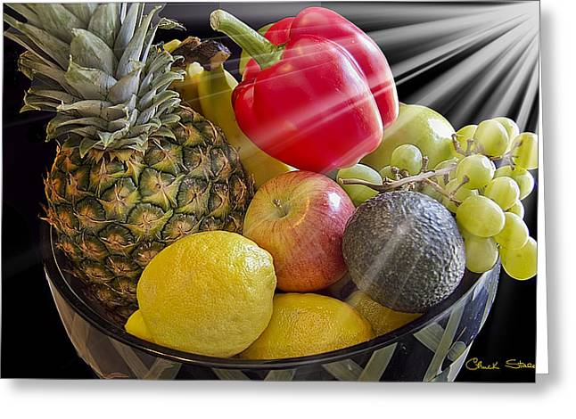 Fruit Bowl Greeting Card by Chuck Staley