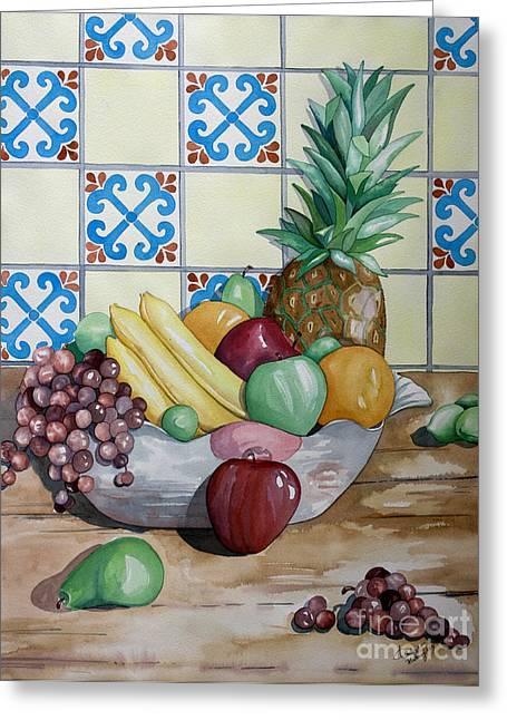 Fruit Bowl Greeting Card