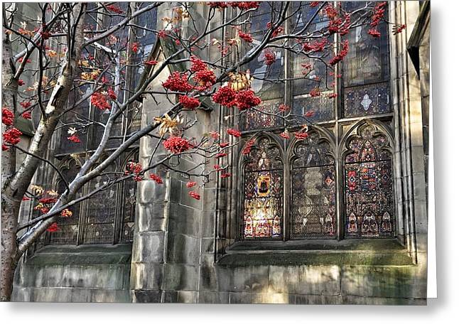 Fruit By The Church Greeting Card by RKAB Works