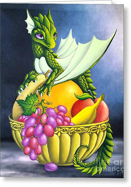 Fruit Dragon Greeting Card