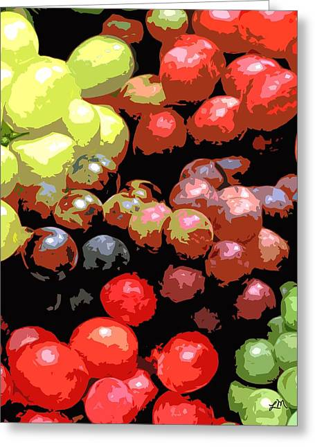 Fruit Expression One - Grapes Greeting Card