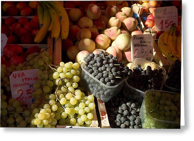Fruit For Sale At The Rialto Market Greeting Card by Todd Gipstein