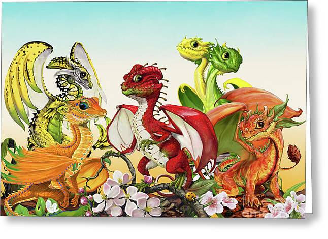 Fruit Medley Dragons Greeting Card