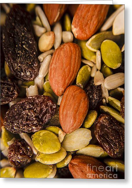 Fruit Nut And Seed Snack Mix Greeting Card by Jorgo Photography - Wall Art Gallery
