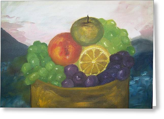 Fruit Of The Land Greeting Card by Pamela Wilson