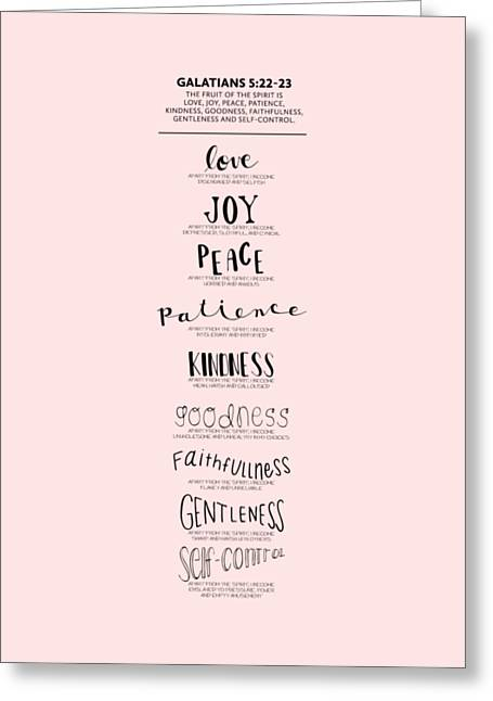 Fruit Of The Spirit Greeting Card by Nancy Ingersoll