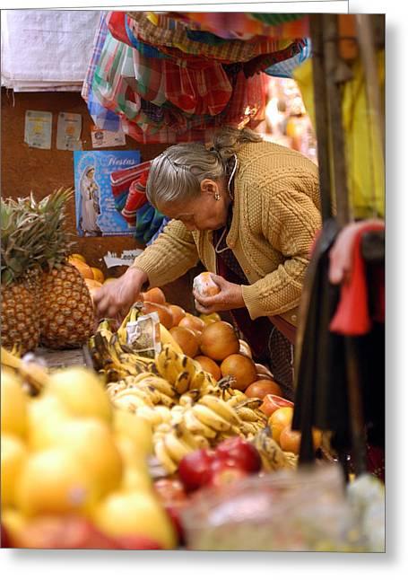 Fruit Stand In Guadalajara Greeting Card by Kent McCuddin