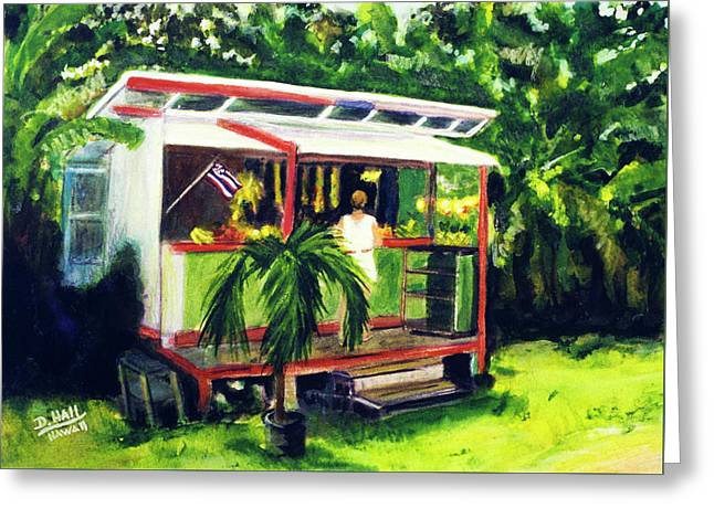 Fruit Stand North Shore Oahu Hawaii #163 Greeting Card by Donald k Hall
