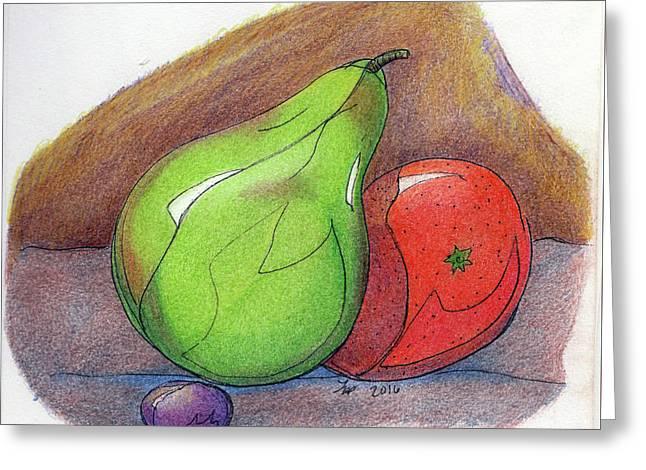 Fruit Still 34 Greeting Card by Loretta Nash