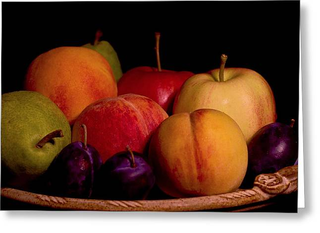 Fruit Still Life Greeting Card by Marion McCristall