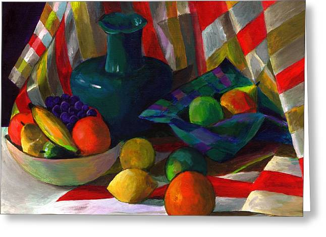 Fruit Still Life Greeting Card by Peter Shor
