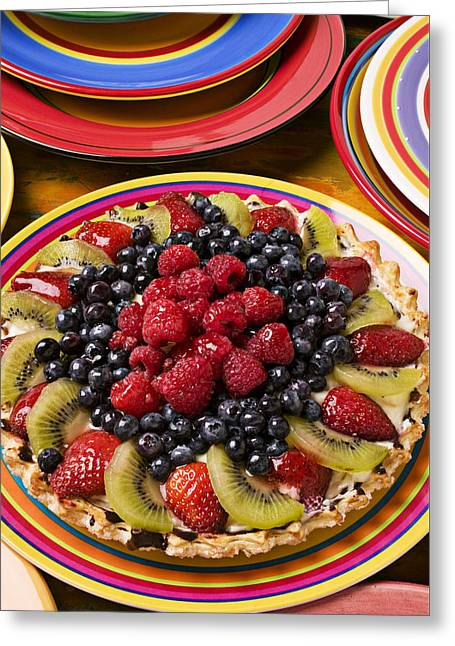 Fruit Tart Pie Greeting Card