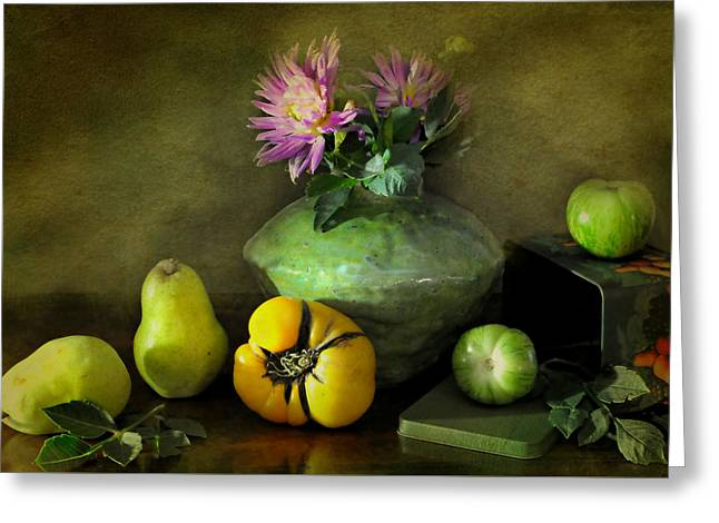 Fruit Tin Greeting Card by Diana Angstadt