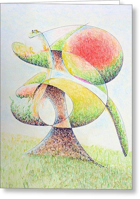 Fruit Tree Greeting Card by Dave Martsolf