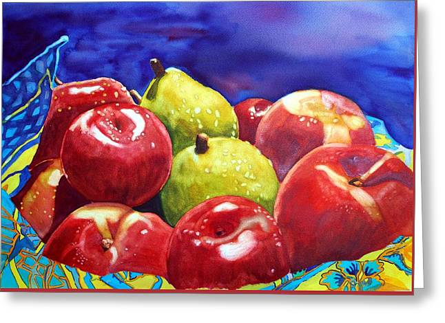 Fruitfully Yours Greeting Card by Gerald Carpenter