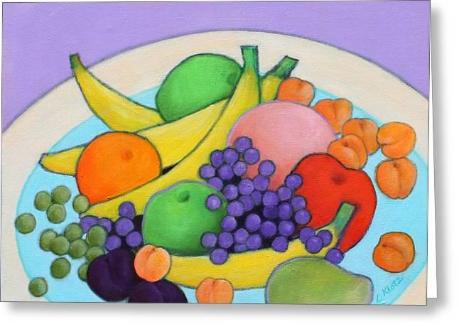 Fruitilicious Greeting Card by Lorraine Klotz